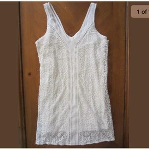 Abercrombie & Fitch Off White Embroidered Dress XS